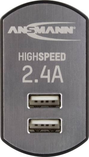 Hálózati USB-s töltő, max. 2400 mA, 2 x USB alj, Ansmann 1001-0031