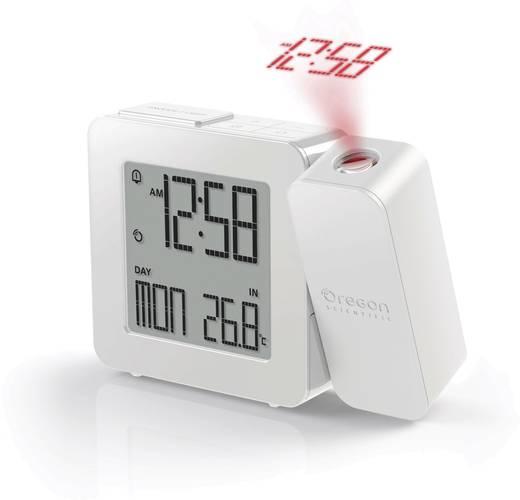 Kivetítős ébresztőóra, belső hőmérséklet kijelzéssel, fehér, 26 x 128 x 99 mm, Oregon Scientific PROJI RM338P