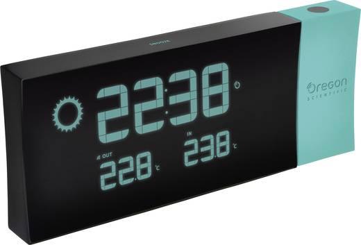 Rádiójel vezérelt kivetítős ébresztőóra, külső hőmérővel, kék, Oregon Scientific RMR 223P
