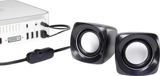 Számítógép hangszóró 2.0, fekete, 6W, Basetech S181
