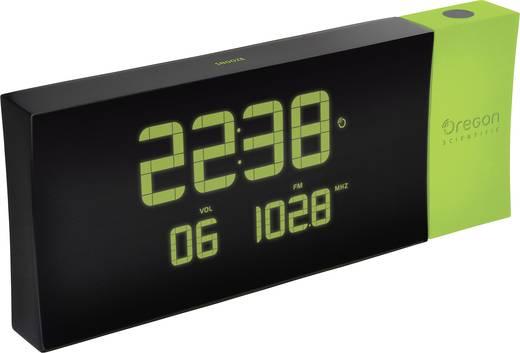 Rádiójel vezérelt kivetítős ébresztőóra, külső hőmérővel, zöld, Oregon Scientific RMR 222P