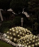 Karácsonyi kültéri LED fényháló melegfehér színű 100 LED-es 1,5m x 2m Polarlite Combine & Shine DIY-04-007 (DIY-04-007) Polarlite