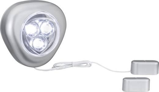 LED-es bútormegvilágító lámpa mozgásérzékelővel, 0,18 W, nappalifény-fehér/alu, Paulmann 70500 TriLED