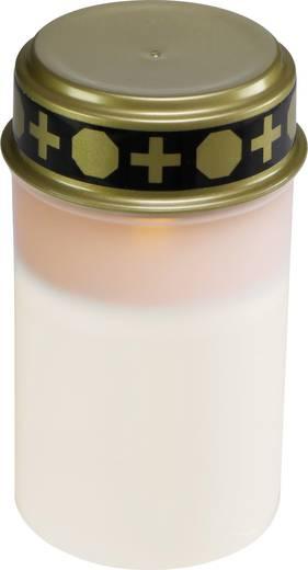 LED-es sírmécses, időjárás álló LED-es gyertya, fehér színű Grablicht