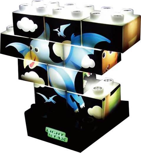 Világítós építő készlet, Dino Puzzle, LightStaxx M-03003