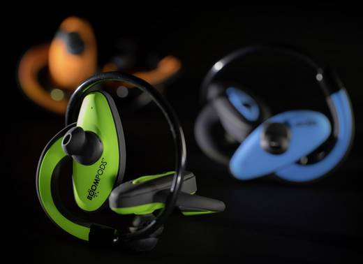 Bluetooth fejhallgató, vízálló sport fejhallgató, zöld színű Boompods Sportpods SPGRN