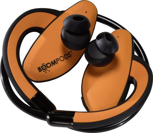 Bluetooth fejhallgató, vízálló sport fejhallgató, narancs színű Boompods Sportpods SPORA