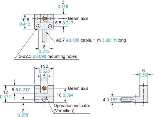 Villás fénysorompó, hatótáv: 5 mm, Panasonic PM-L24P