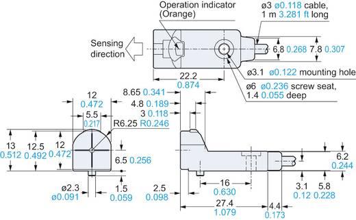 Induktív közelítés kapcsoló, kapcsolási távolság: 0-4 mm, Panasonic GX-H12A-P