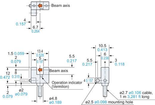 Villás fénysorompó, hatótáv: 5 mm, Panasonic PM-F24P