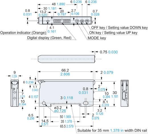 Optikai kábel erősítő DIN-sínes szereléshez, Panasonic FX101PCC2
