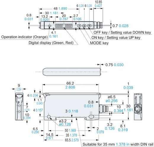 Optikai kábel erősítő DIN-sínes szereléshez, Panasonic FX101Z
