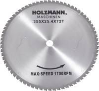 Holzmann Maschinen MKS355SB MKS355SB Keményfém körfűrészlap 355 x 25.4 mm Fogak száma (collonként): 72 1 db Holzmann Maschinen