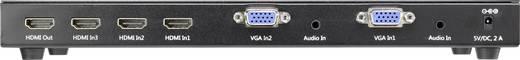 5 port HDMI/VGA switch távirányítóval, 3840 x 2160 pixel, SpeaKa Professional