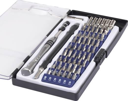 Multimédiás mikro BIT csavarhúzó készlet, telefon és laptop szereléshez 58 részes Basetech 1430586
