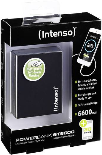 Powerbank Intenso Softtouch ST 6600 Lítiumion 6600 mAh
