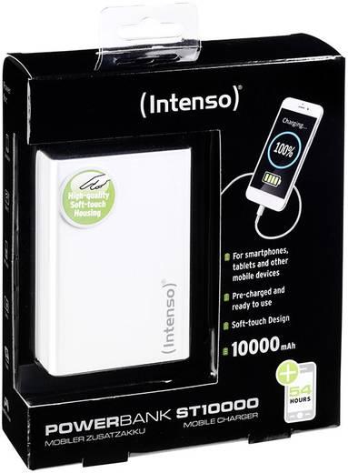 Powerbank, lítiumion 10000 mAh, fehér, Intenso Softtouch ST 10000