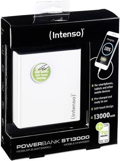 Powerbank, lítiumion 13000 mAh, fehér, Intenso Softtouch ST 13000