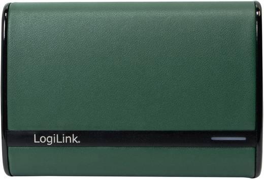 Powerbank, mobilakku, Li-Ion 7800 mAh, zöld, LogiLink Stylus 7800