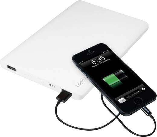 Powerbank, mobilakku, Li-Ion 12000 mAh, LogiLink Stylus Slim