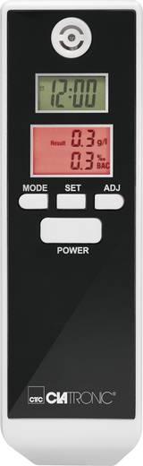 Alkoholteszter kijelzővel, hőmérséklet és idő kijelzéssel, (max.)=1.9 ‰, Clatronic AT3605