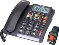 Vezetékes telefon időseknek vészhívó adóval, kihangosítható, Switel TF 560 Switel
