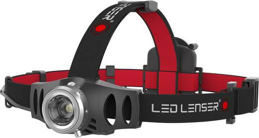 LED-es fejlámpa, akkus, 132 g, fekete/piros, LED Lenser H6R
