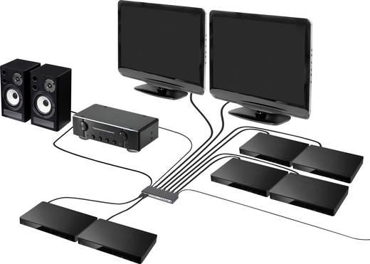 6 portos HDMI mátrix switch kép a képben funkcióval, távirányítóval, 3840 x 2160 pixel, SpeaKa Professional