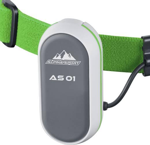 LED-es fejlámpa, elemes, 1 LED 75 lm 40 m 5,5 óra, narancs, Alpina Sport AS01 3.7210
