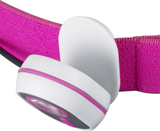 LED-es fejlámpa, elemes, rózsaszín, Alpina Sport AS01 3.7209