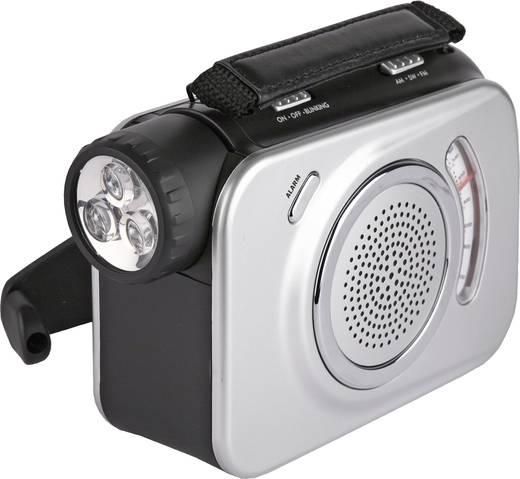 Dinamós rádió, zseblámpával Ampercell