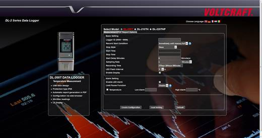 USB-s levegő hőmérséklet, páratartalommérő és légnyomás mérő adatgyűjtő Voltcraft DL-220THP