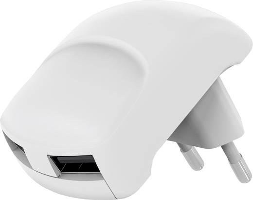 Hálózati USB töltő adapter 2 USB aljzattal 115-230V/AC 5V/DC max. 2100mA fehér színű Goobay 64022