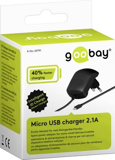 Micro USB hálózati töltő adapter 5V/DC 2100mA Goobay 63791