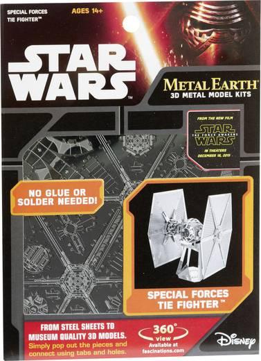 Metal Earth Star Wars Tie Fighter űrrepülő 3D lézervágott fémmodell építőkészlet 502661