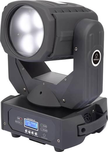 LED-es effektsugárzó, forgófejes robotlámpa 4 x 25 W Renkforce Superbeam