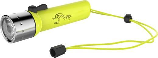 LED-es búvárlámpa csuklópánttal, elemes, 400 lm 233 g, neonsárga, LED Lenser D14.2