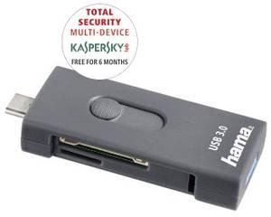 USB-C kártyaolvasó, okostelefon, tablet adatolvasó Hama 124145 Hama