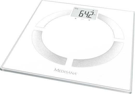 Testzsíranalizáló mérleg, személymérleg max.180 kg-ig, fehér színű Medisana BS444 connect