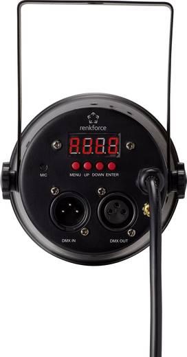 LED-es PAR reflektor, diszkófény, DMX vezérelhető 18 x 1 W Renkforce Minipar