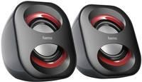 USB-s PC hangszóró, hangfalpár, 2.0 multimédiás hangfal 3 W Hama Sonic Mobil 183 Hama