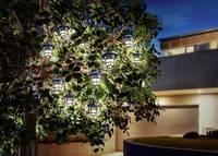 Napelemes fényfüzér,ázsiai stílusban,  kültérre 10 LED melegfehér  Esotec 102152 Esotec