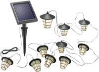 Esotec 102152 Napelemes fényfüzér Lámpás Kültérre Napenergiával üzemeltetett 10 LED Melegfehér Megvilágított hossz: 4 m Esotec