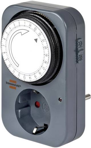 Konnektorba dugható analóg időkapcsoló, napi program, Brennenstuhl 1506450