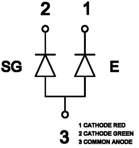 SMD LED, DUOLED piros/zöld KM-23ESGW-CA