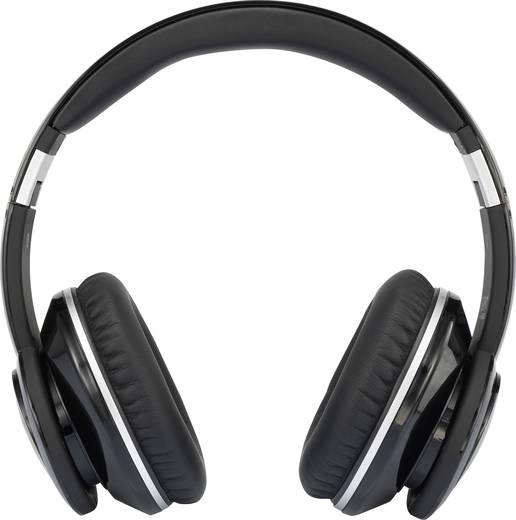 Úti fejhallgató és headset, zajszűrővel, összehajtható, fekete, renkforce HP02 Over Ear