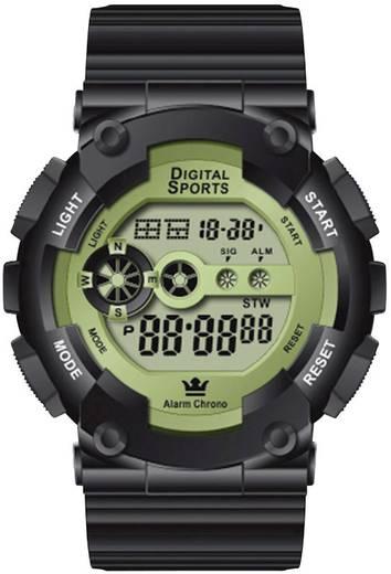 Digitális karóra, műanyag, fekete, 44515/04