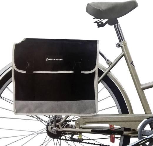 Dupla kerékpár csomagtartó táska, szürke/fekete, Dunlop 41740
