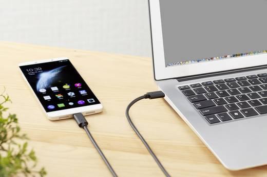USB 3.1 Csatlakozókábel [1x USB-C dugó - 1x USB-C dugó] 1 m Fekete Aranyozatt érintkező Renkforce