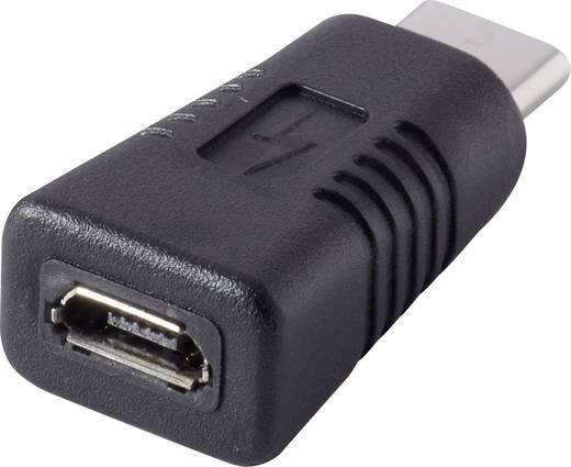 USB 2.0 Átalakító [1x USB-C dugó - 1x USB 2.0 alj, mikro B típus]